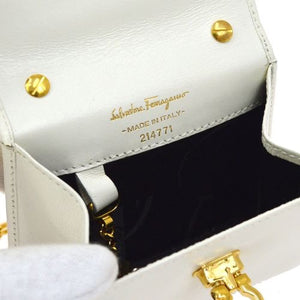 SALVATORE FERRAGAMO - Off White Shoulder Bag