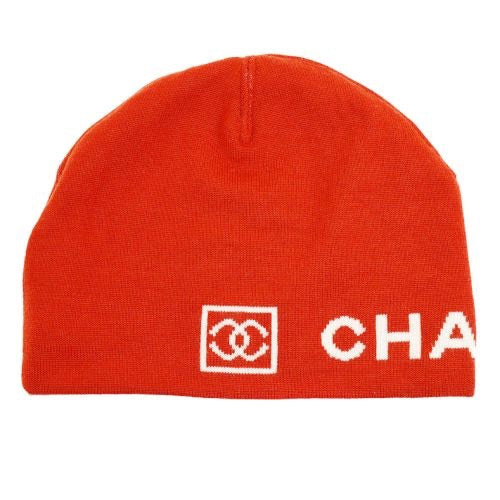 Chanel - Red Knitted Hat