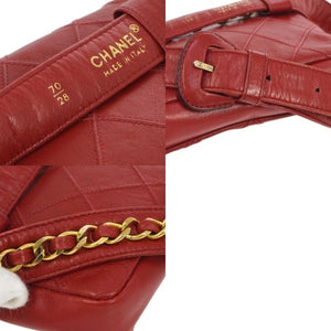 CHANEL - Red quilted bum waist bag