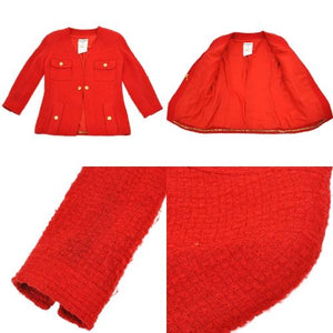 CHANEL - Red tweed suit