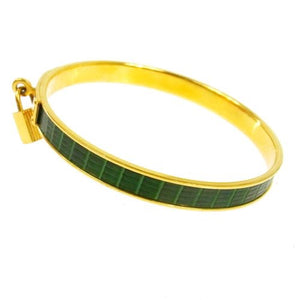 HERMÈS - Gold & green bangle