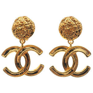 CHANEL - Gold Pearl Earrings