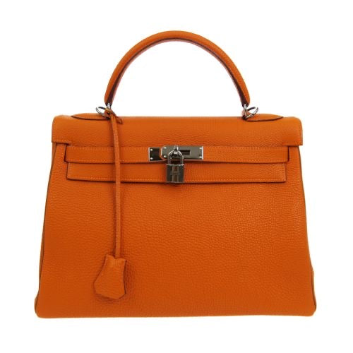 HERMÈS - Orange Kelly Bag