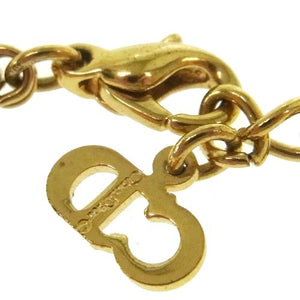 CHRISTIAN DIOR - Gold Logo Necklace