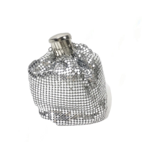 RAE JOSEPH - Silver Chain Mail Clutch