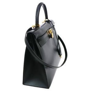 HERMES - Kelly leather handbag 35