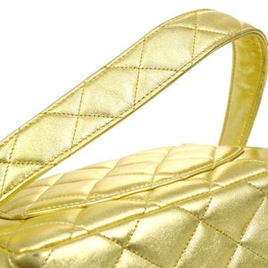 Chanel - Gold Quilted Handbag