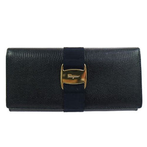 SALVATORE FERRAGAMO - Black leather wallet