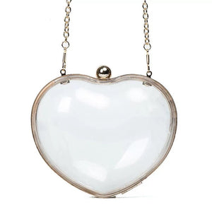 RAE JOSEPH - Heart Shaped Clear Clutch