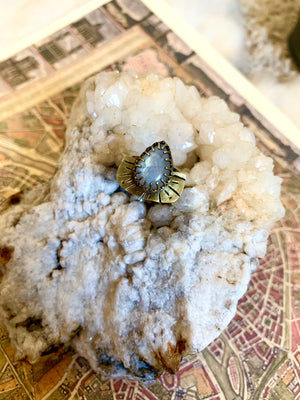 Blessed Be Moonstone Ring