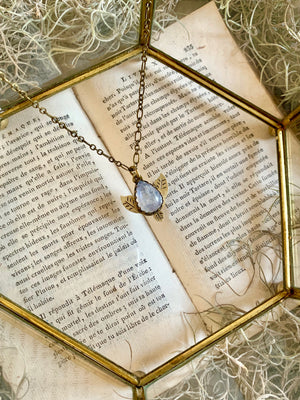 Flora Of The Fae Rainbow Moonstone Necklace