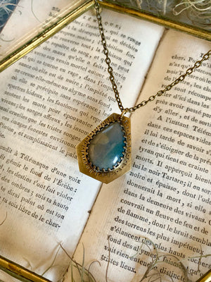 Secret Garden's Luminescence Moss Agate Necklace