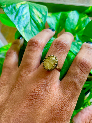 Crown of Thorns  Rutilated Quartz Ring