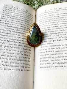 Labradorite Sunburst Brass Ring