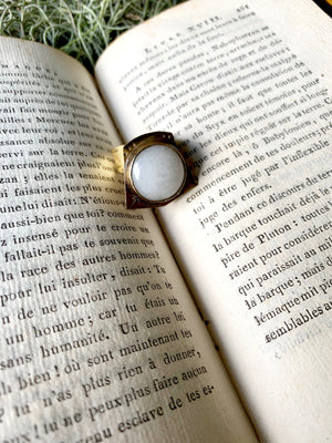 White Agate As Within Ring