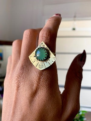 Endless Night Sky Aventurine Ring