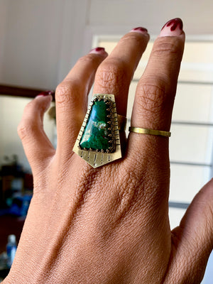 Gateway to You Chrysocolla Ring