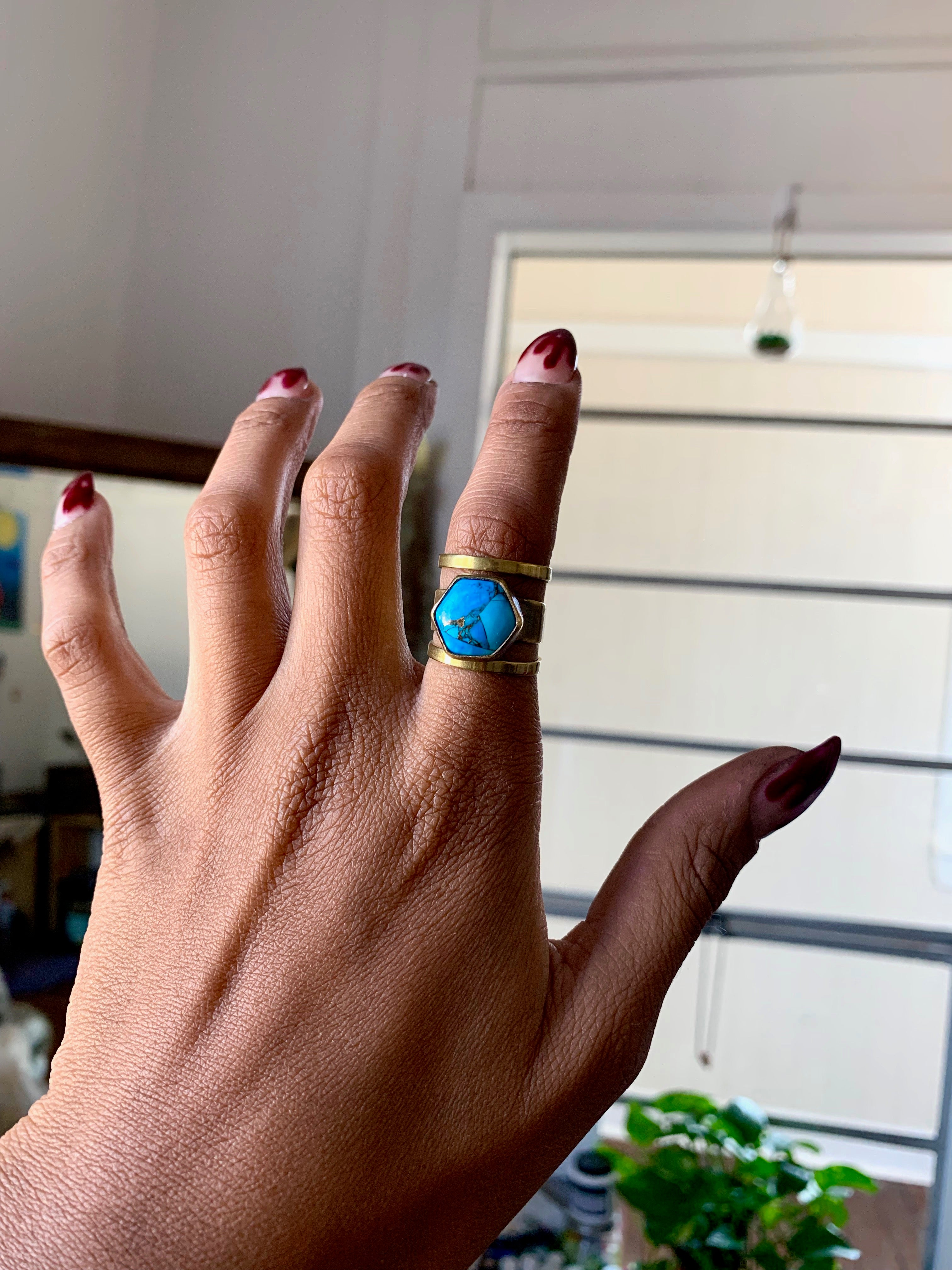 What The Hex Mohave Copper Blue Turquoise Ring