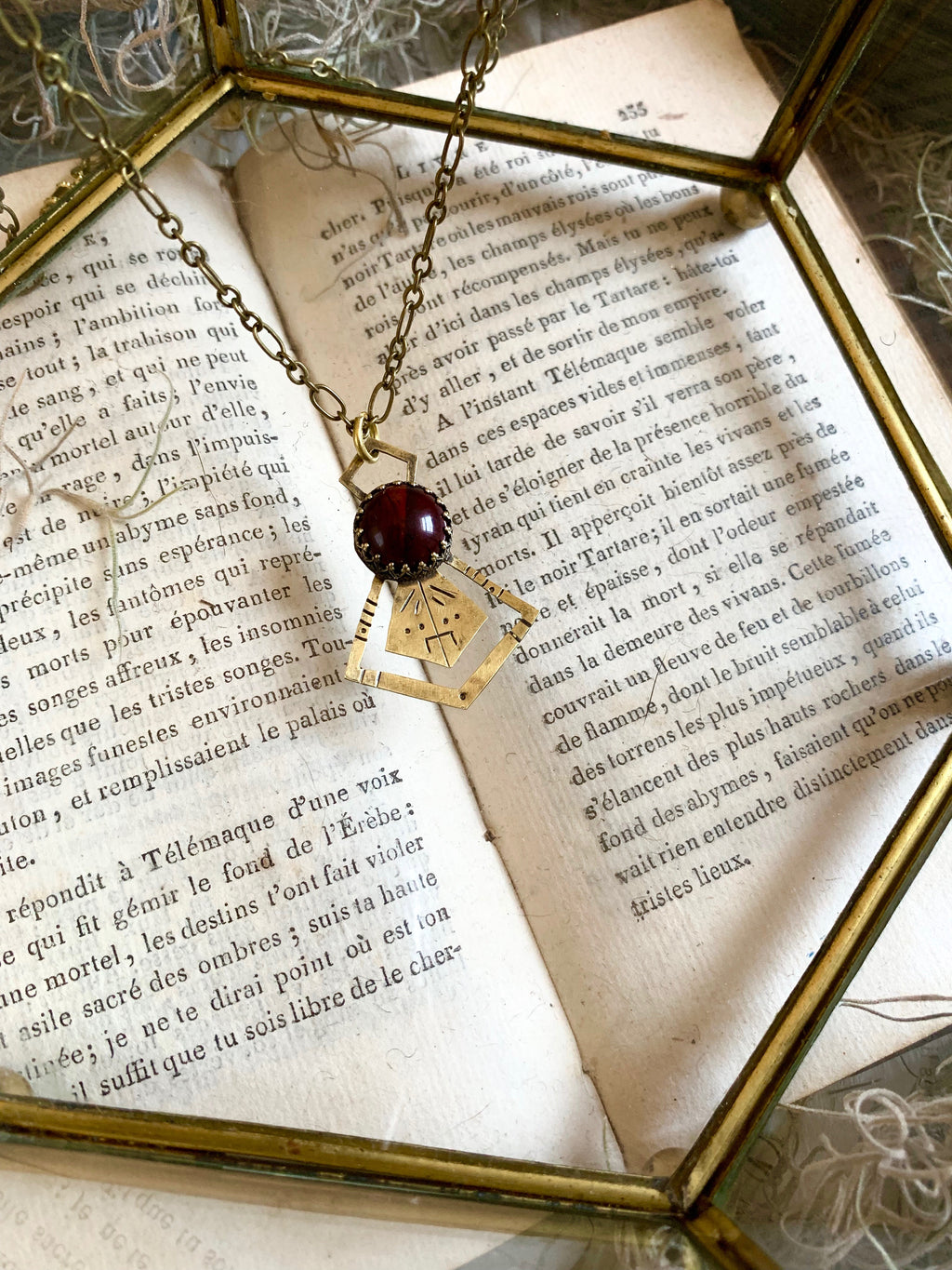 Shield of Abundance Red Tiger's Eye Necklace