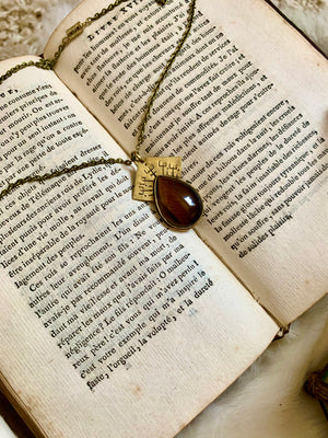 Tiger's Eye Courage Manifest Necklace