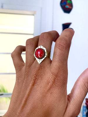 Welcome Home My Love Rhodochrosite Ring