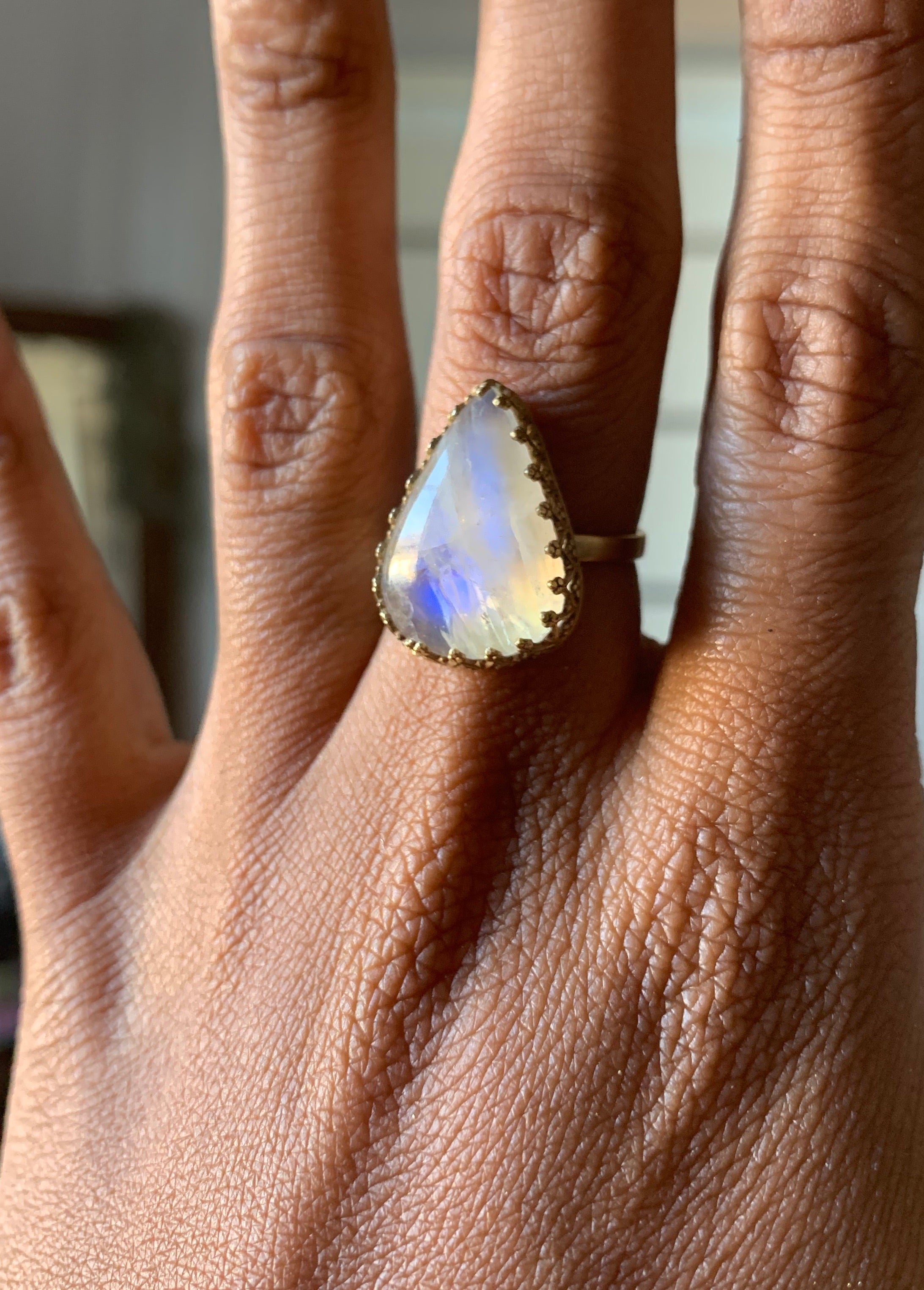 The White Witch Alice In Wonderland Rainbow Moonstone Ring