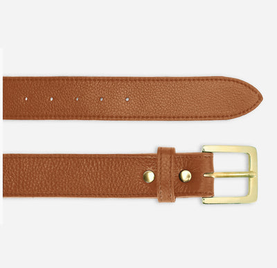 Women's Classic Belt - Tumbled Brown