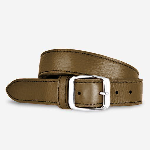 Women's Tumbled Narrow Belt - Olive