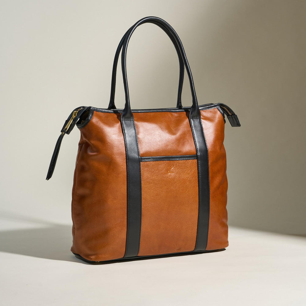 The Total Tote - Black & Tan