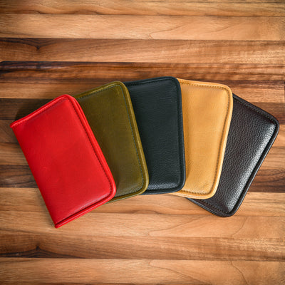 Lucky Passport Holder - Tumbled Brown