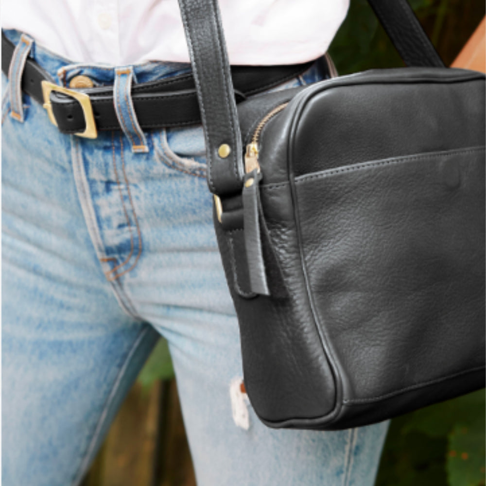 Matching Combo: Crosstown Carryall & Classic Belt In Black