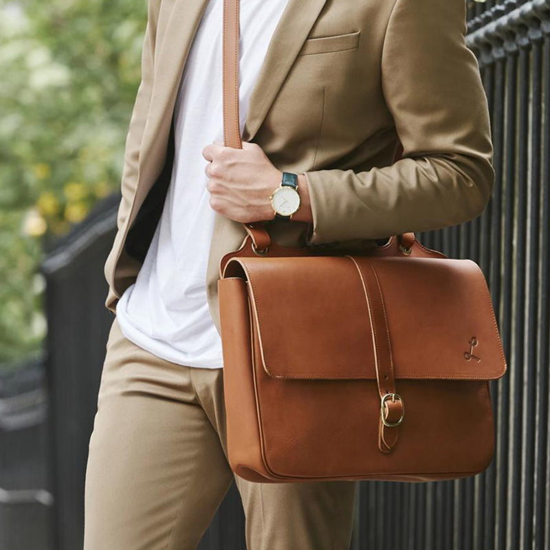 Men's Messenger Bag - Vegetable Tan