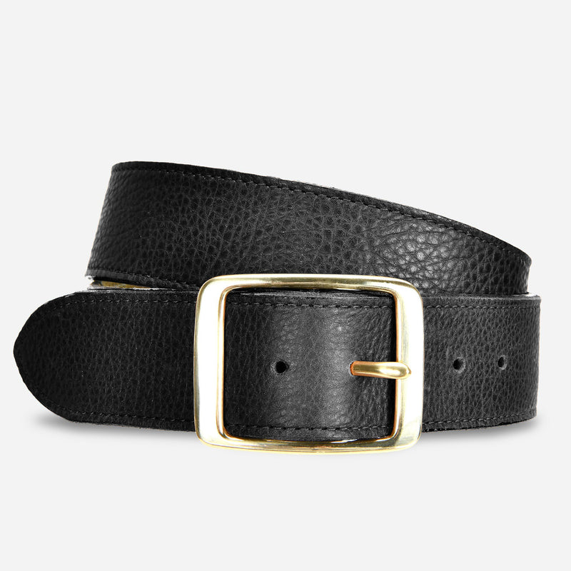Men's Pickatinny Metallic-Lined Belt - Tumbled Black