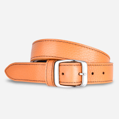 Women's Tumbled Narrow Belt - Butterscotch
