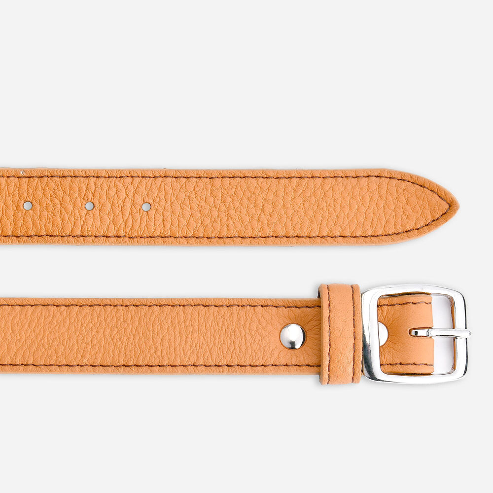 Women's Tumbled Narrow Belt - Honey