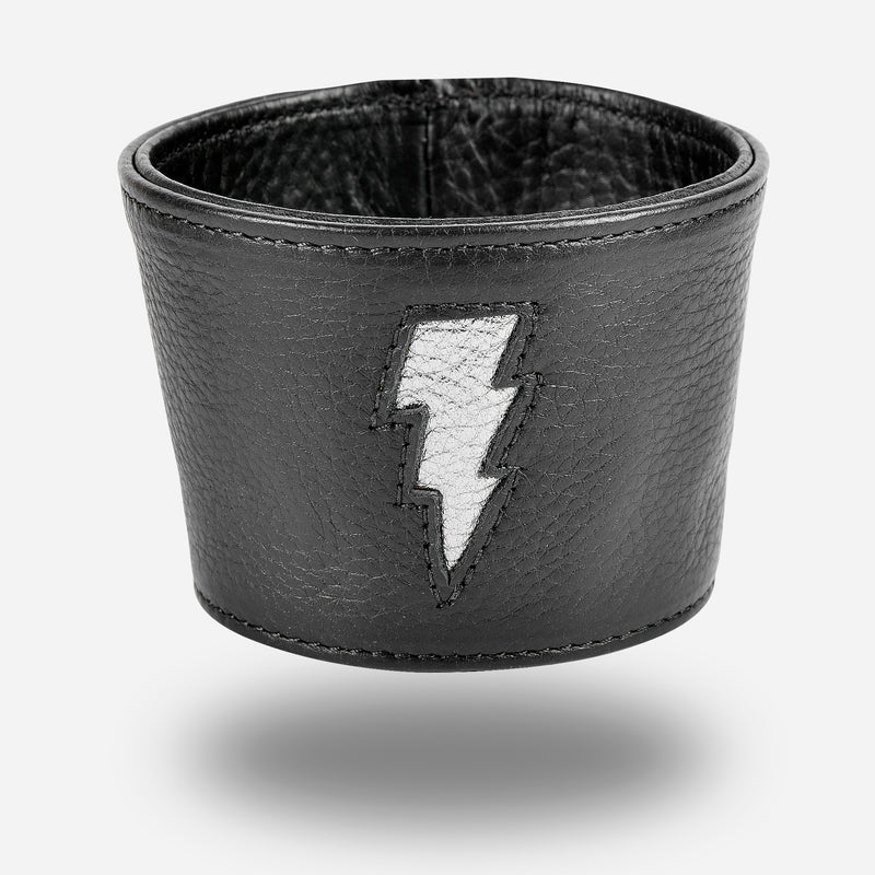 Lightning Coffee Sleeve - Tumbled Black