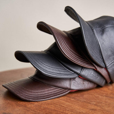 Leather Hat - Black & Brown