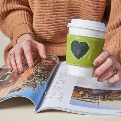 Heart Coffee Sleeve - Lime