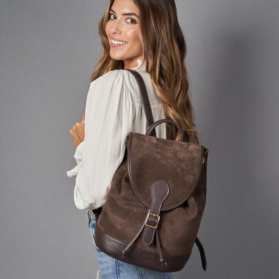 Go Anywhere Backpack - Mocha Suede