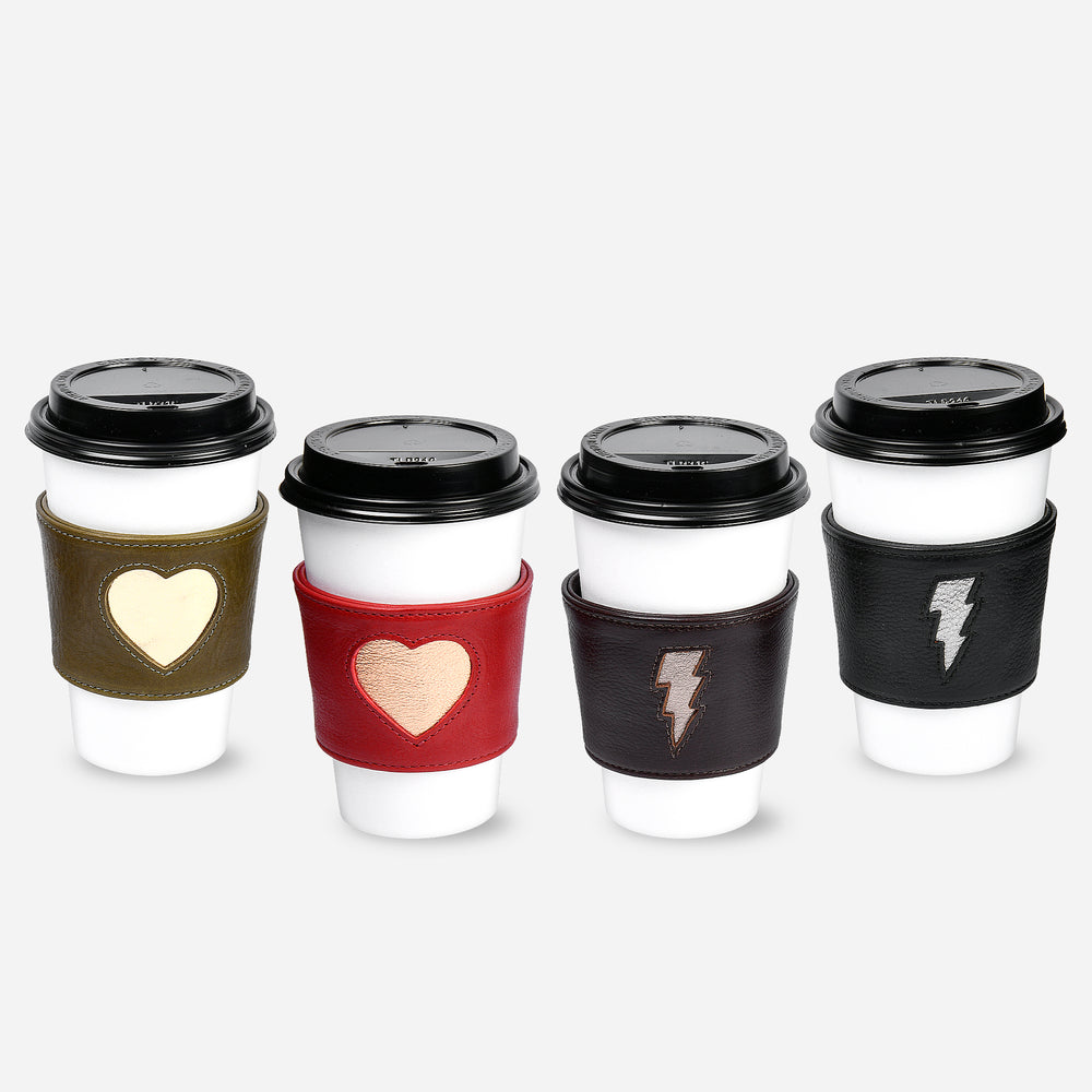 Heart Coffee Sleeve - Olive