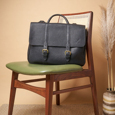 Two-Handled Satchel - Classic Black