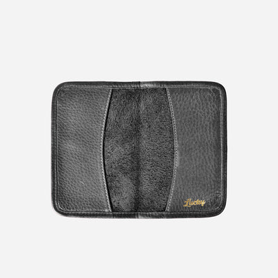 Lucky Passport Holder - Tumbled Black