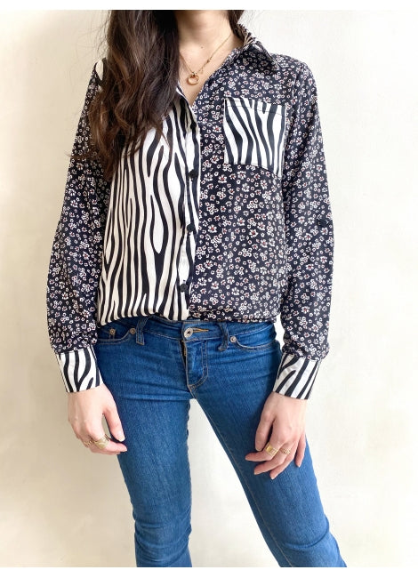 Lauren Animal Floral Mix Print Shirt