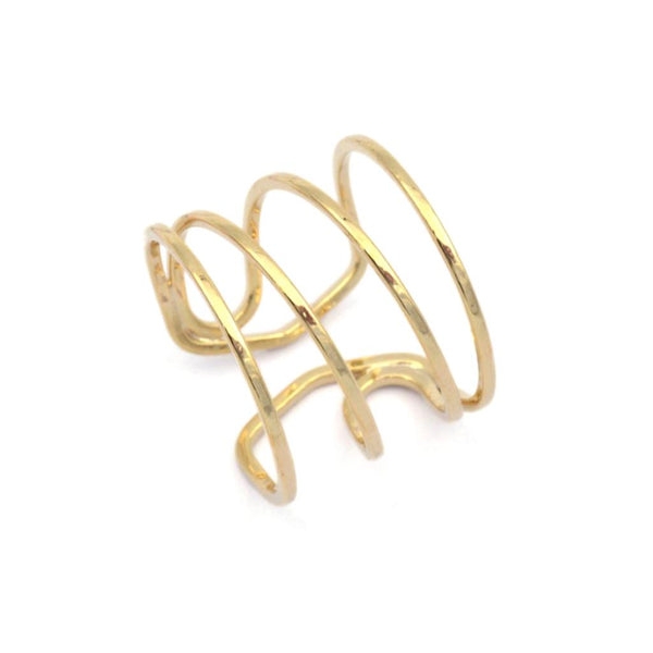Val 4 Band Gold Twist Ring