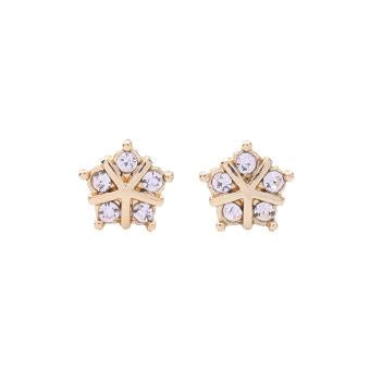 Tiny Five Crystal Star Earring