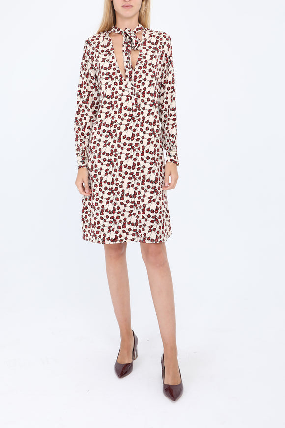Lulu Cream Print Shift Dress