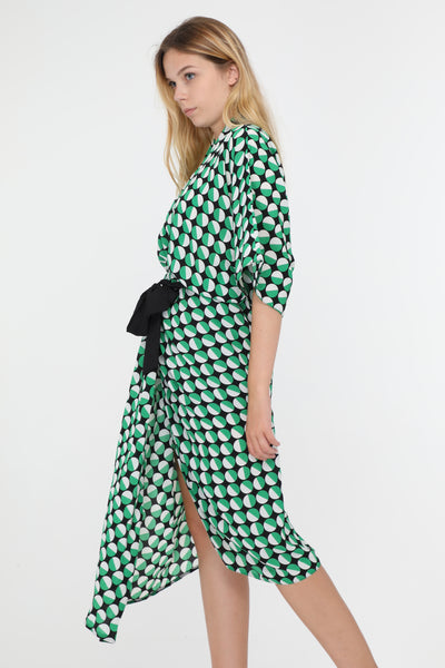Jane Green Polka Dot Kimono Sleeve Dress