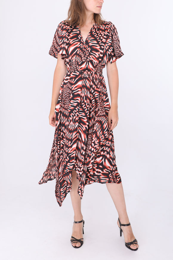 Moira Dipped Hem Dress
