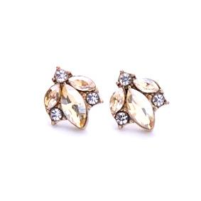 Amber Crystal Cluster Earring