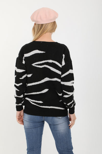 Amelia Black and Gold Sequin Jumper